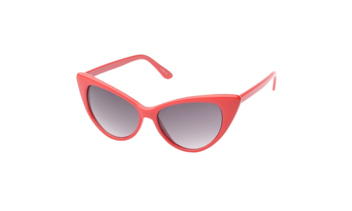 MLC Eyewear 'Colville' Cat eye Fashion Sunglasses in Red