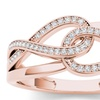 De Couer 10k Rose Gold 1/5ct TDW Fashion Ring (H-I, I2)