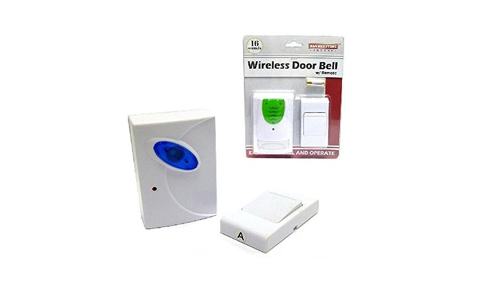Wireless Door Bell w/ Remote-16 Sounds, Easy Install