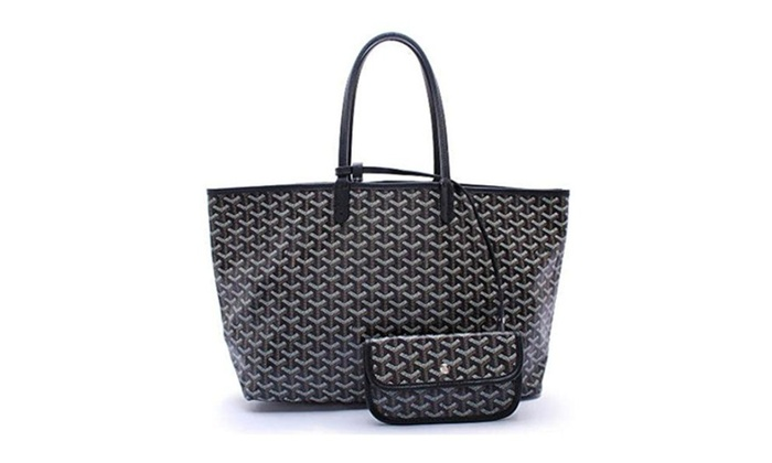 Elqua Lady Tote Shoulder Bag With Matching Wallet (Black) – Black / Large