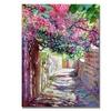 David Lloyd Glover Shady Lane Greece Canvas Print