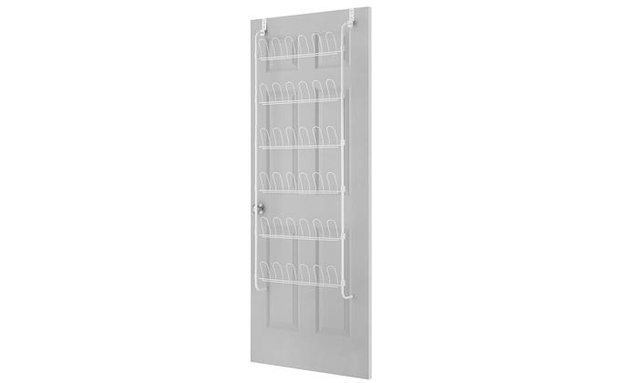 Whitmor 50545 62.75 X 22.5 In. Over The Door Shoe Rack