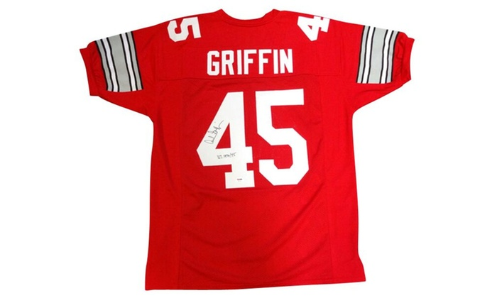 7f915c13337 Autographed Archie Griffin Ohio State Buckeyes Red Custom Jersey ...