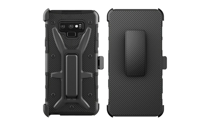 size 40 67705 b4490 For Samsung Galaxy Note 9 Black Ultimate Rugged 3 in 1 Hard Hybrid Case  Cover