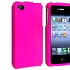 Insten Pink Clip-on Snap-on Rubber Hard Case For iPhone 4 4S 4th Gen