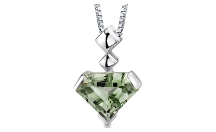 Green Amethyst Pendant Sterling Silver Superman 6.25 Carats SP8820