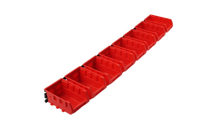 8 Bin Wall Mounted Parts Rack