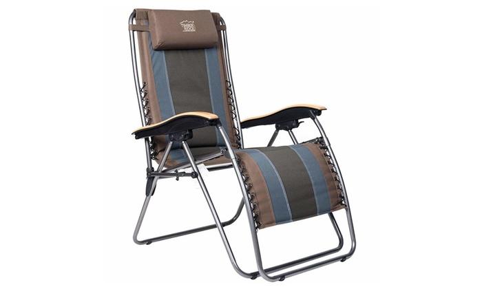 Enjoyable Timber Ridge Zero Gravity Patio Lounge Chair Groupon Creativecarmelina Interior Chair Design Creativecarmelinacom