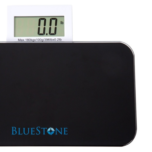 Bluestone Digital Tempered Glass Bathroom Scales With LCD Display