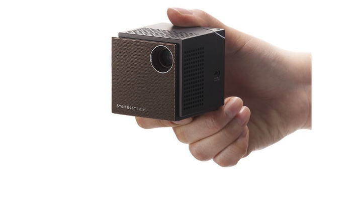 Sk telecom laser pico portable mini projector groupon for Best portable laser projector