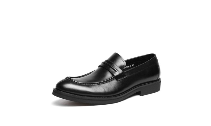 Shefetch Men's Slip On Leather Shoes