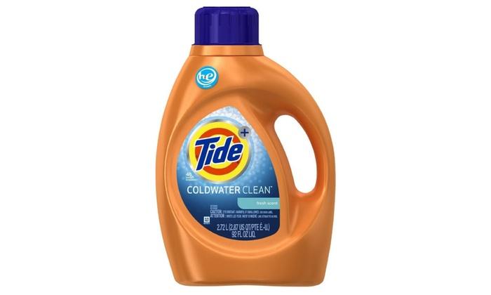 Tide Plus Coldwater Clean Liquid Detergent Fresh Scent 92