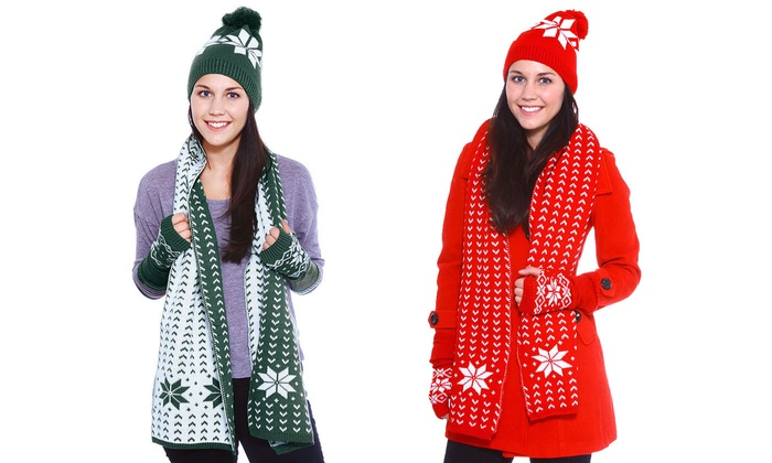 Up To 20 Off On Grow Up Snowflake Knitted Hat Groupon Goods