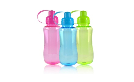 Colorful Sports Water Bottle with Freezable Center