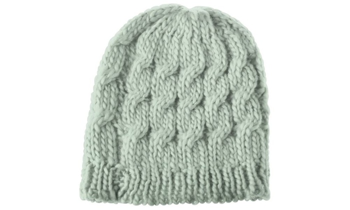 Zodaca Gray Lady Women Knit Winter Warm Crochet Hat Braided Beanie Cap