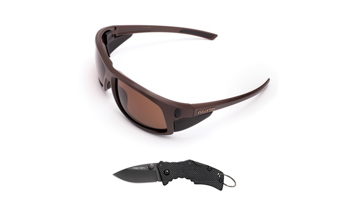 Cold Steel Battle Shades Mark I- Dark Brown w/Free Knife EWDS13M