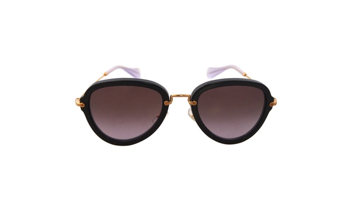 MU 03QS 1AB3H0 - Black/Purple for Women - 55-24-104 mm Sunglasses