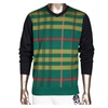 Men's V Neck Plaid Colorblock Knitted Wool Pullover Sweater