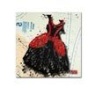 Roderick Stevens Black n Red Swirls Canvas Print