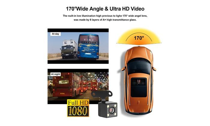 "4/"" Vehicle HD 1080P Car Dashboard DVR Camera Video Recorder G-Sensor Dash Cam"
