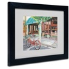 Colleen Proppe 'Coffee Shop' Matted Black Framed Art