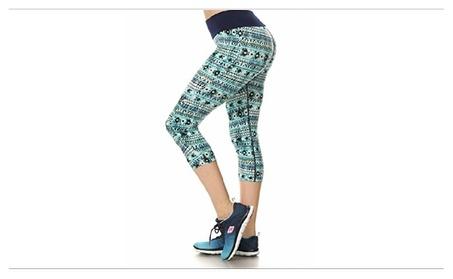 Printed Activewear Capris e47c5004-3c20-40d3-9d98-479090e5c1d3