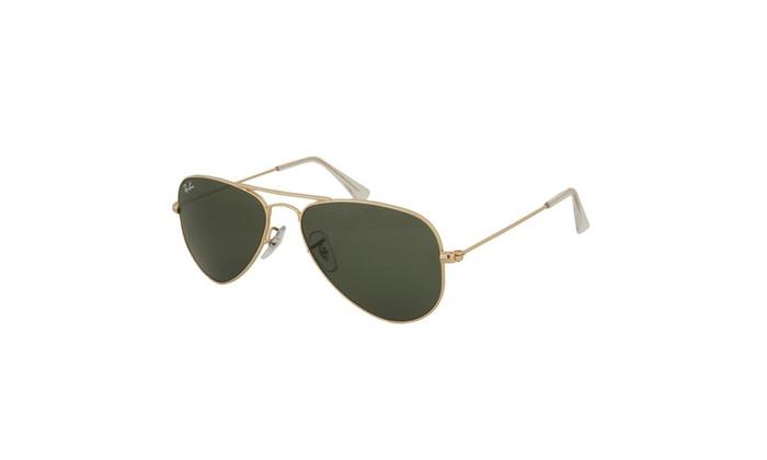 Ray-Ban Small Aviator Sunglasses (Gold Frames & G-15XLT Lenses ...