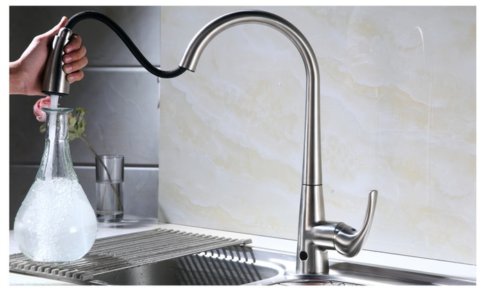 MiKitchen FTHF 02BN Touchless Kitchen Faucet With Sensor Activated