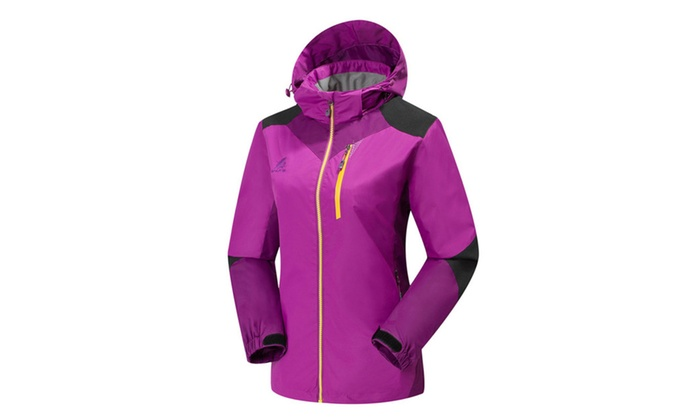 Women's Colorblock Windbreak Outdoor Active Jacket