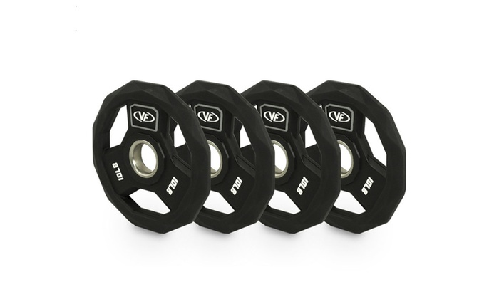 Valor Fitness Home Gym Poly-Urethane Olympic Plate 10 lb - Set Of 4