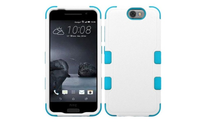 Groupon Goods: Insten Tuff Hard Dual Layer Silicone Case For HTC One A9 White Blue