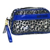 Just Cavalli Women Animal Print Wristlet Small Clear Vinyl Bag Italy