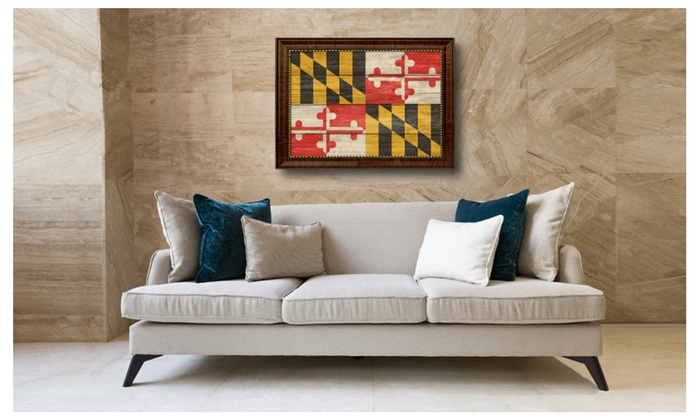 Maryland State Textured Flag Home Office Wall Décor Gift Idea 6082 Rhgroupon: Maryland Home Decor At Home Improvement Advice