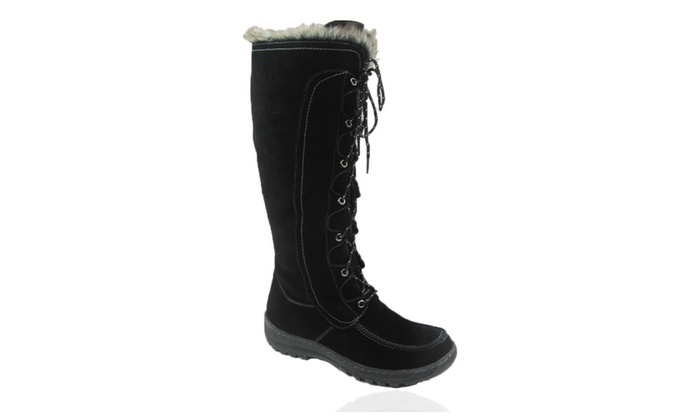 Comfy Moda Women's Winter Snow Boots Warsaw Genuine Suede Leather #6-1