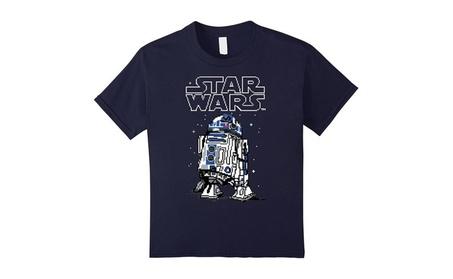 Star Wars 8-Bit Pixel R2D2 And Logo Graphic T-Shirt aa40d39c-bece-421f-a67c-b35553b2bcdb