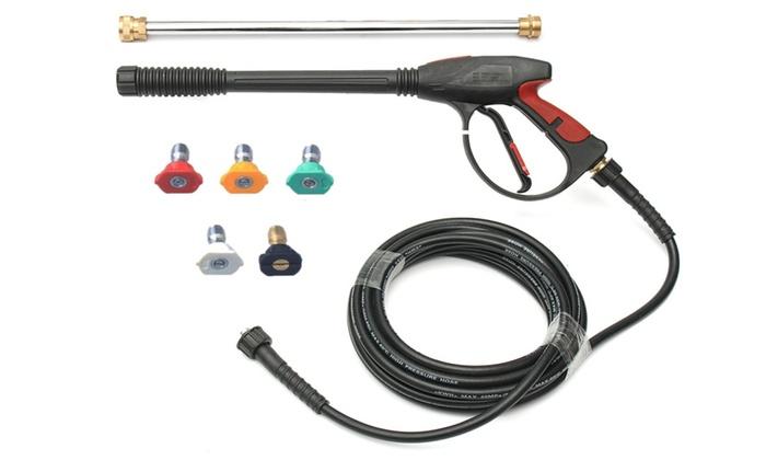 Pressure Washer Gun >> Pressure Washer Gun Wand Kit For Car Cleaning Groupon