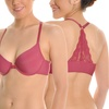 Angelina Wired Front Closure Bras with Lace Racerback (6-Pack)