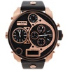 Diesel Men's Rose Gold-tone and Black Large Chronograph Watch