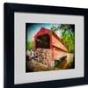 Lois Bryan 'Old Covered Bridge' Matted Framed Art