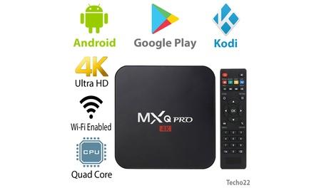MXQ Pro 4K Ultra HD 3D 64Bit Wifi Android 7.1 Quad Core Smart TV Box KODI 18