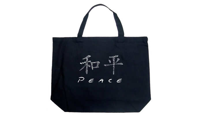 Large Tote Bag - CHINESE PEACE SYMBOL
