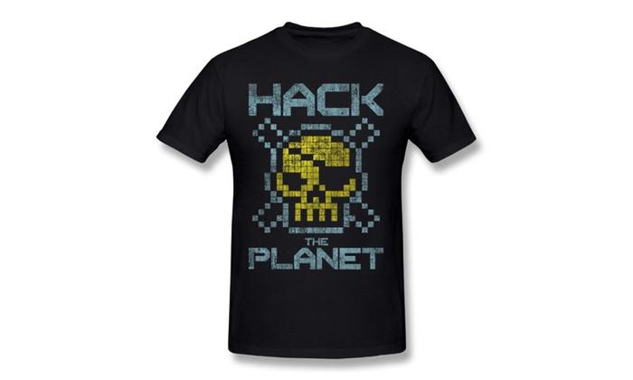 2f11cdbd4 ETQQ Unisex T Shirt - Hack The Planet Originals Tees Black | Groupon