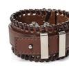 Vintage Handmade Adjustable Leather Bracelet for Men