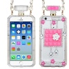 Insten Hard 3D Cover Case Chain w/Diamond For iPhone 6 Clear/Pink