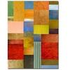 Michelle Calkins 'Color Panes-Green Grass' Canvas Art