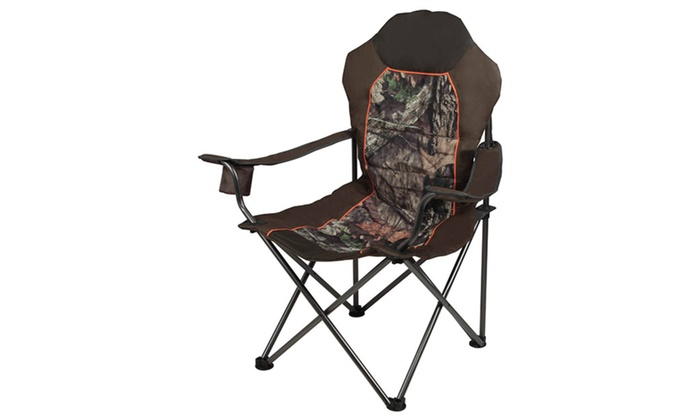 Mossy Oak Camo Deluxe Camping Lounge Chair (1, 2, 3, 4 Pack)