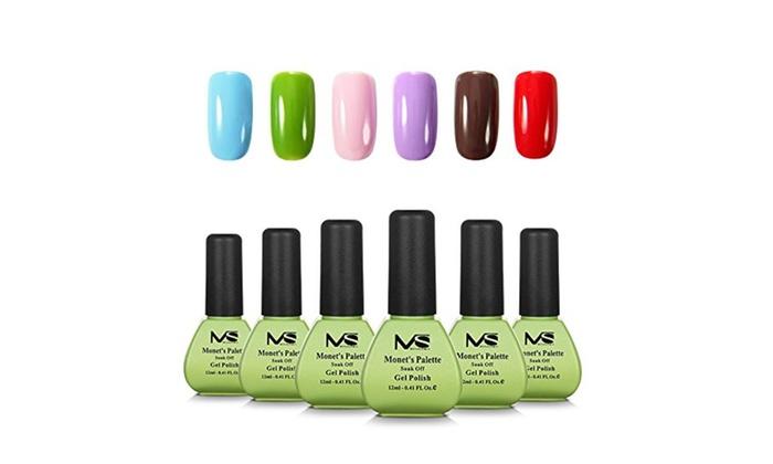 Melodysusie Monet S Palette 1 Step Gel Nail Polish Set Groupon