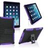 Insten Purple TPU Black Hybrid Case For iPad Air 5 Retina Display