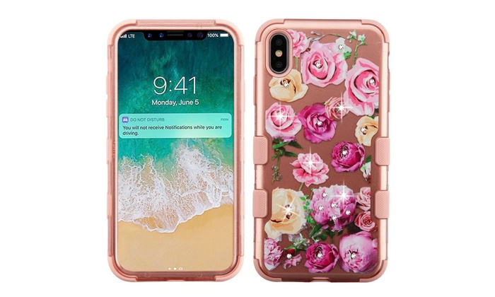 Tuff Roses Dual Layer Hybrid Pc Tpu Rubber Case For Iphone Xs Max