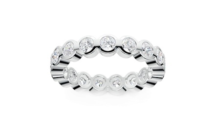 2.50 ct Bezel Set Round Cut Diamond Eternity Wedding Band Ring
